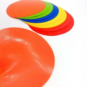 FLAT Round Rubber Training Cones Spot Markers Football Pitch Floor Discs Sports